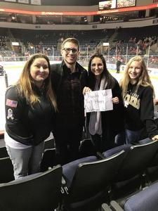 Jessyca attended Allen Americans vs. Idaho Steelheads - ECHL on Nov 10th 2017 via VetTix