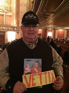 Ernest attended The Marriage of Figaro - Presented by the Pittsburgh Opera on Nov 7th 2017 via VetTix