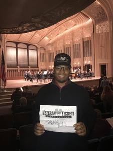 Anthony attended Mendelssohn's Scottish - Presented by the Cleveland Orchestra on Nov 10th 2017 via VetTix