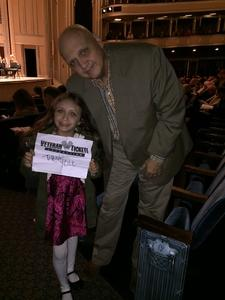 Frank attended Mendelssohn's Scottish - Presented by the Cleveland Orchestra on Nov 10th 2017 via VetTix