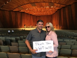 Joel attended Mendelssohn's Scottish - Presented by the Cleveland Orchestra on Nov 10th 2017 via VetTix