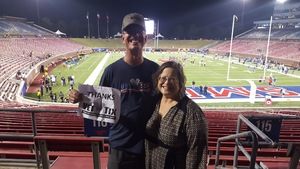 STEPHEN attended Smu Mustangs vs. Central Florida - NCAA Football on Nov 4th 2017 via VetTix
