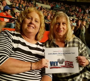 Patsy attended Justin Moore: Hell on a Highway Tour on Nov 3rd 2017 via VetTix