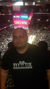 Christopher attended Cleveland Cavaliers vs. Milwaukee Bucks - NBA - Military Appreciation Night! on Nov 7th 2017 via VetTix