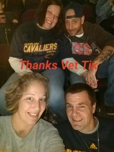 Eva attended Cleveland Cavaliers vs. Milwaukee Bucks - NBA - Military Appreciation Night! on Nov 7th 2017 via VetTix