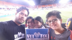 Daniel attended Houston Dynamo vs. Portland Timbers - Conference Semi-finals - MLS on Oct 30th 2017 via VetTix