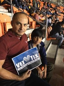 Eleazar attended Houston Dynamo vs. Portland Timbers - Conference Semi-finals - MLS on Oct 30th 2017 via VetTix