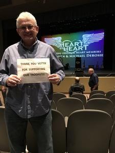 David attended Heart by Heart on Nov 18th 2017 via VetTix