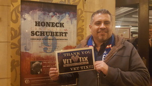 Samuel attended Honeck Conducts Schubert Symphony No. 9 - Presented by the Chicago Symphony Orchestra on Nov 11th 2017 via VetTix