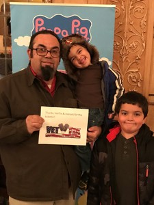 Ricardo attended Peppa Pig Live on Nov 15th 2017 via VetTix