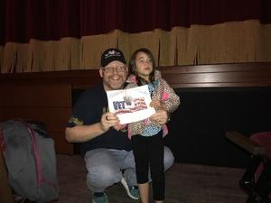 MIke (L.F) attended Peppa Pig Live on Nov 15th 2017 via VetTix