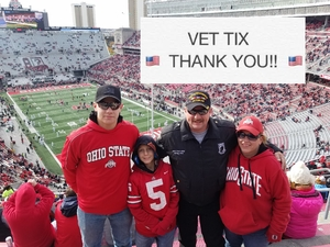Michael Nye attended Ohio State Buckeyes vs. Michigan State - NCAA Football - Military/veteran Appreciation Day Game on Nov 11th 2017 via VetTix