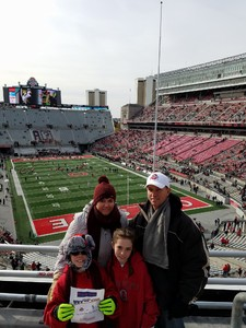 Florence Family attended Ohio State Buckeyes vs. Michigan State - NCAA Football - Military/veteran Appreciation Day Game on Nov 11th 2017 via VetTix