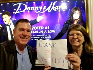 Click To Read More Feedback from Donny and Marie Live in Concert - Flamingo Las Vegas Hotel and Casino