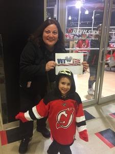 Stacy attended New Jersey Devils vs. Florida Panthers - NHL on Nov 27th 2017 via VetTix