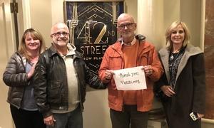 Steven attended 42nd Street on Nov 25th 2017 via VetTix
