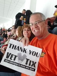 Gary attended Anaheim Ducks vs. Vegas Golden Knights - NHL on Nov 22nd 2017 via VetTix