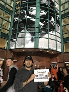 Ernesto attended Anaheim Ducks vs. Vegas Golden Knights - NHL on Nov 22nd 2017 via VetTix