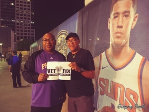 Gregory attended Phoenix Suns vs. New Orleans Pelicans - NBA on Nov 24th 2017 via VetTix
