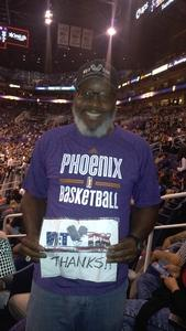 Perry attended Phoenix Suns vs. Houston Rockets - NBA on Nov 16th 2017 via VetTix