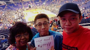 Suzanne attended Phoenix Suns vs. Houston Rockets - NBA on Nov 16th 2017 via VetTix