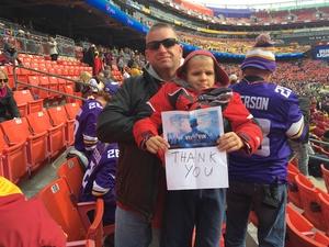 Click To Read More Feedback from Washington Redskins vs. Minnesota Vikings - NFL