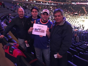 Julio attended New York Knicks vs. Sacramento Kings - NBA on Nov 11th 2017 via VetTix