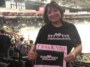 Leticia attended Allen Americans vs. Rapid City Rush - ECHL on Dec 2nd 2017 via VetTix