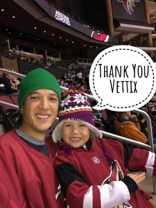 Cosimo attended Arizona Coyotes vs. Los Angeles Kings - NHL on Nov 24th 2017 via VetTix