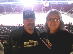 Marion attended Arizona Coyotes vs. Los Angeles Kings - NHL on Nov 24th 2017 via VetTix