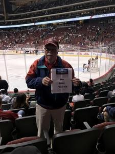 Larry attended Arizona Coyotes vs. Los Angeles Kings - NHL on Nov 24th 2017 via VetTix