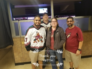Ernest attended Arizona Coyotes vs. Los Angeles Kings - NHL on Nov 24th 2017 via VetTix