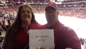 John attended Arizona Coyotes vs. Los Angeles Kings - NHL on Nov 24th 2017 via VetTix