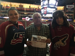 Brian attended Arizona Coyotes vs. Los Angeles Kings - NHL on Nov 24th 2017 via VetTix