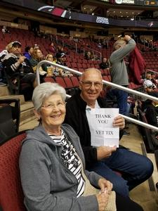 Charles attended Arizona Coyotes vs. Los Angeles Kings - NHL on Nov 24th 2017 via VetTix