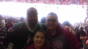 Sergio attended Arizona Coyotes vs. Los Angeles Kings - NHL on Nov 24th 2017 via VetTix