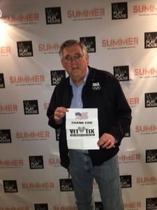 Howard attended The Donna Summer Musical on Dec 3rd 2017 via VetTix
