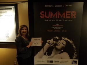 Maria attended The Donna Summer Musical on Dec 3rd 2017 via VetTix