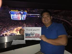Eric attended New York Knicks vs. LA Clippers - NBA on Nov 20th 2017 via VetTix