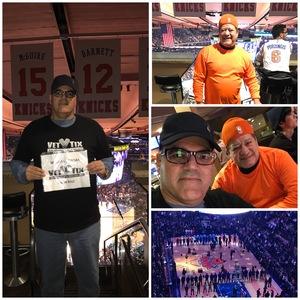 EDWIN attended New York Knicks vs. LA Clippers - NBA on Nov 20th 2017 via VetTix