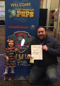 Jeremy attended Paw Patrol Live! The Great Pirate Adventure - Presented by Vstar Entertainment on Dec 27th 2017 via VetTix