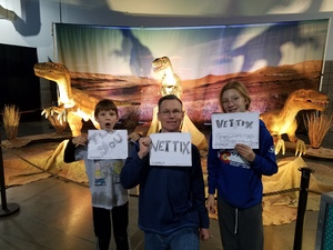 JAMES attended Dinosaur Time Trek - Presented by Vstar Entertainment on Dec 3rd 2017 via VetTix