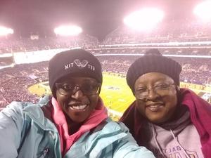 Teiana attended Baltimore Ravens vs. Houston Texans - NFL - Monday Night Football on Nov 27th 2017 via VetTix