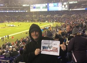 Mark attended Baltimore Ravens vs. Houston Texans - NFL - Monday Night Football on Nov 27th 2017 via VetTix