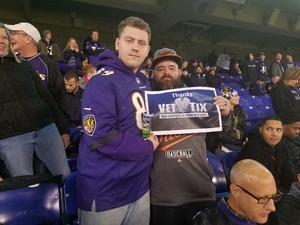 JOSHUA attended Baltimore Ravens vs. Houston Texans - NFL - Monday Night Football on Nov 27th 2017 via VetTix