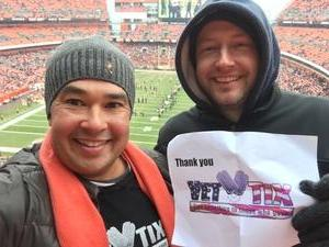 Michael attended Cleveland Browns vs. Baltimore Ravens - NFL on Dec 17th 2017 via VetTix