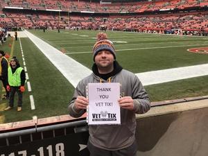 CHRISTOPHER attended Cleveland Browns vs. Baltimore Ravens - NFL on Dec 17th 2017 via VetTix