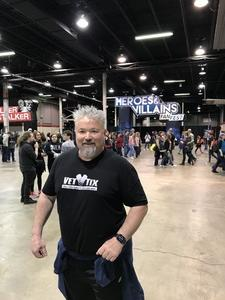 Sean attended Heroes and Villains Fan Fest on Apr 7th 2018 via VetTix