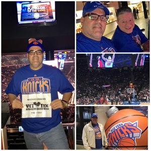 EDWIN attended New York Knicks vs. Miami Heat - NBA on Nov 29th 2017 via VetTix