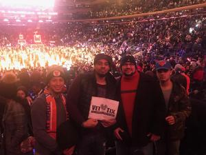 RAY attended New York Knicks vs. Miami Heat - NBA on Nov 29th 2017 via VetTix
